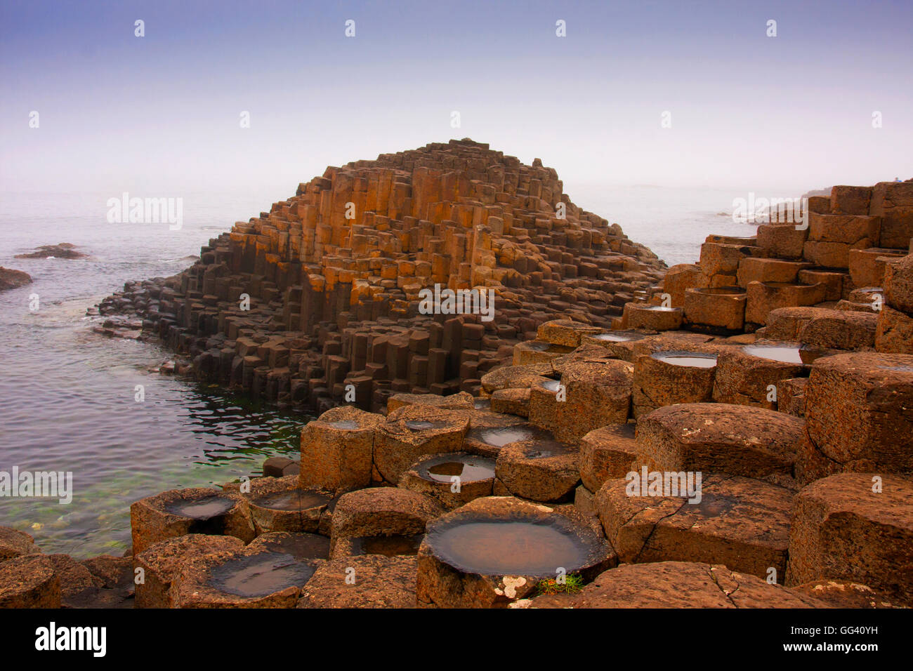 Giant's Causeway Moyle Northern Ireland - Stock Image