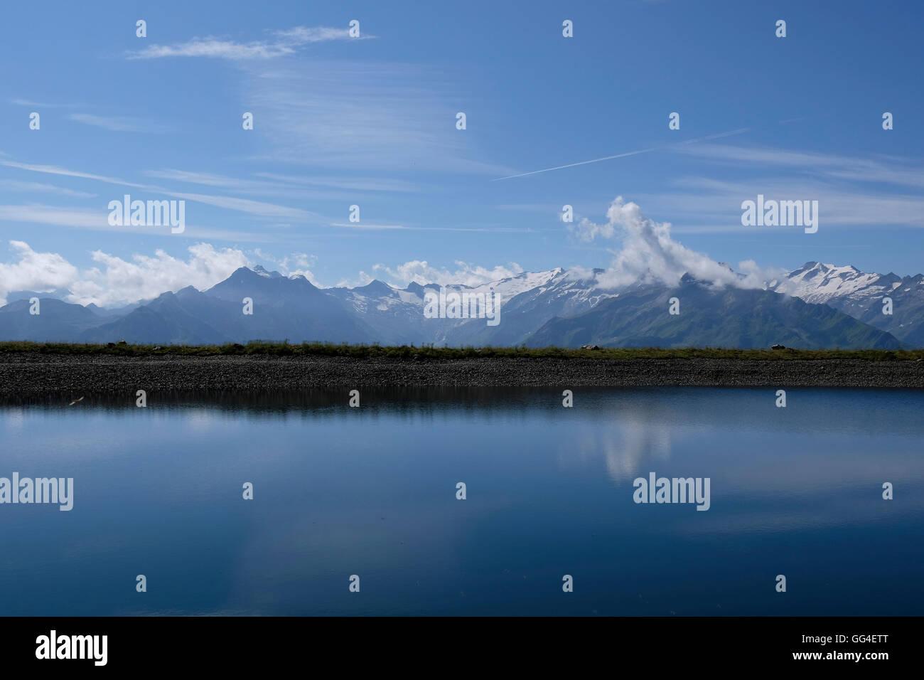 Lake in the Austrian alps. - Stock Image