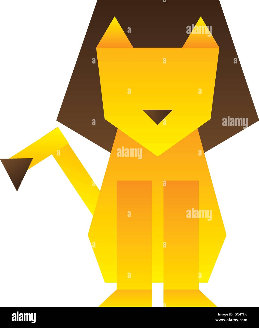 Lion Silhouette Low Poly Icon