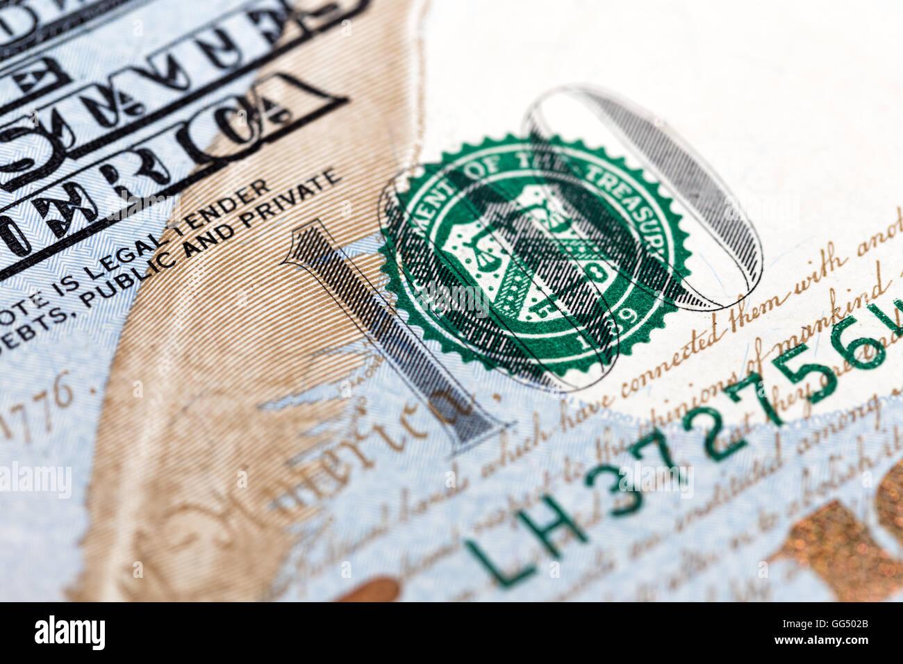 Hundred Dollars Green - Stock Image