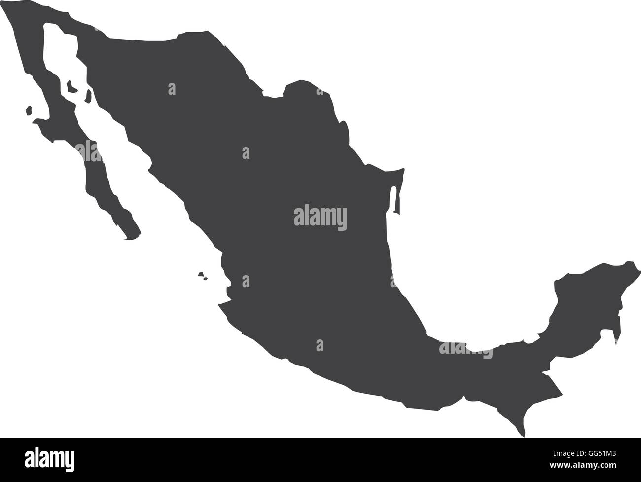 mexico map geography icon