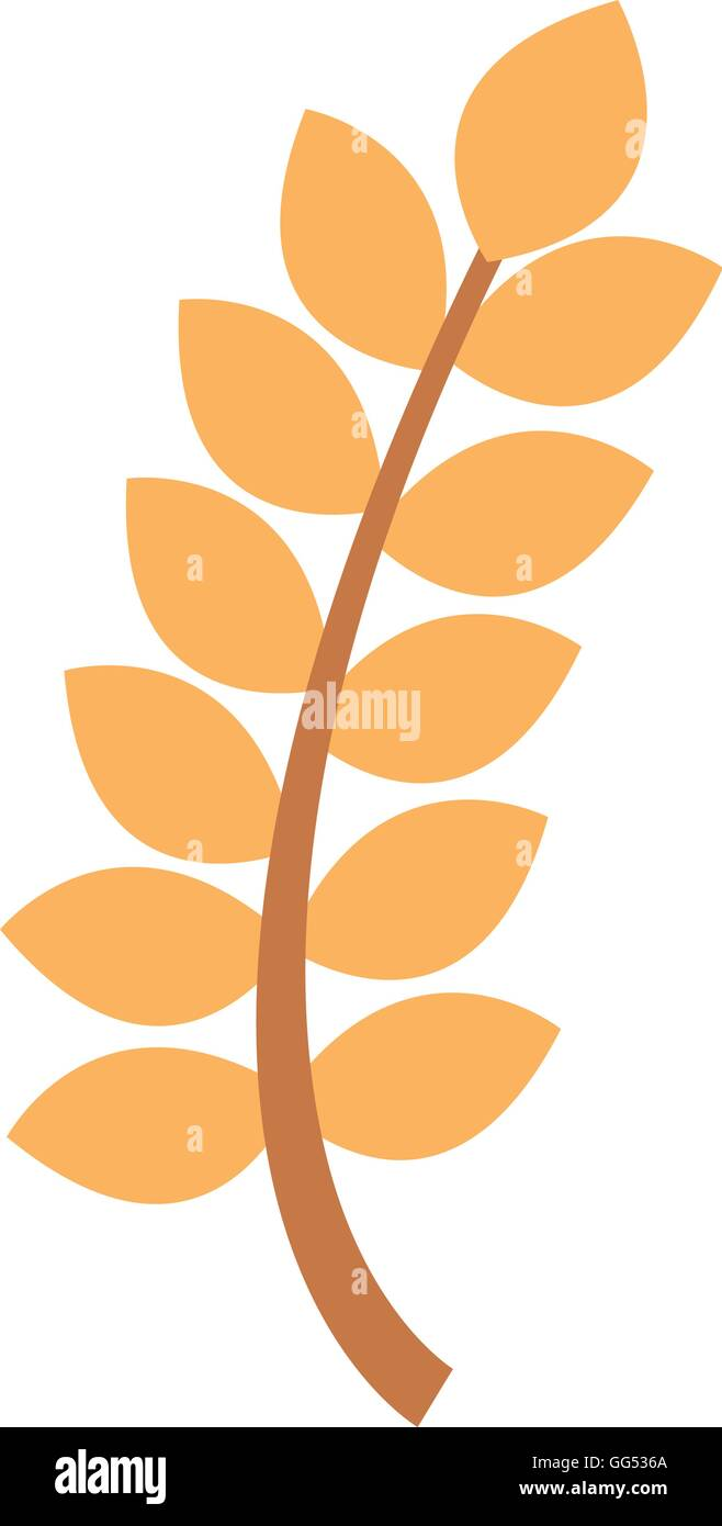 wreath leafs gluten icon Stock Vector Art & Illustration