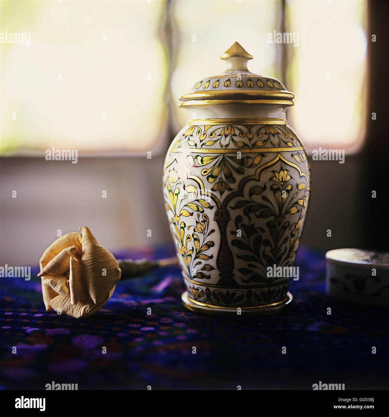 A Chinese urn - Stock Image