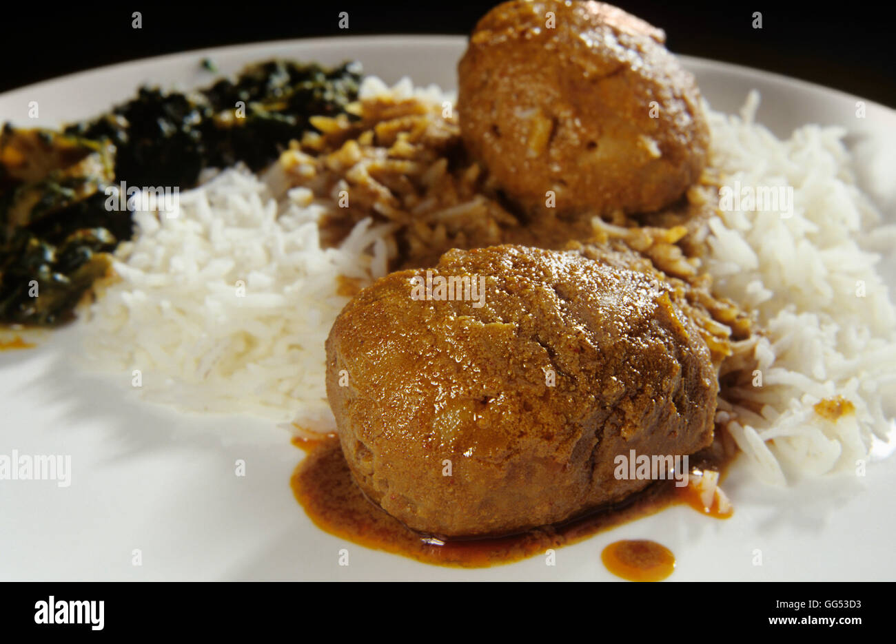 Traditional Kashmiri cuisine - Stock Image
