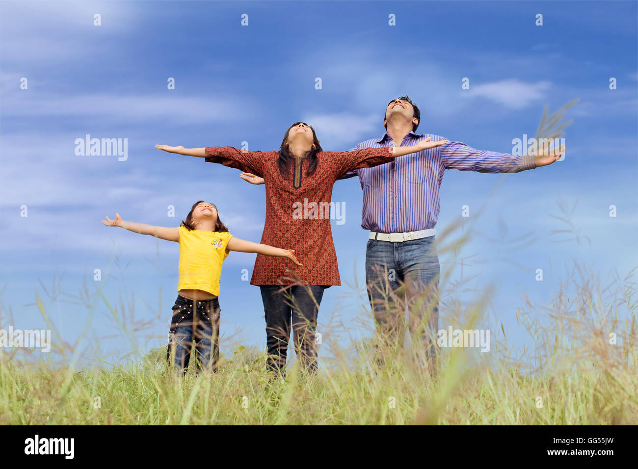 Family at the park - Stock Image