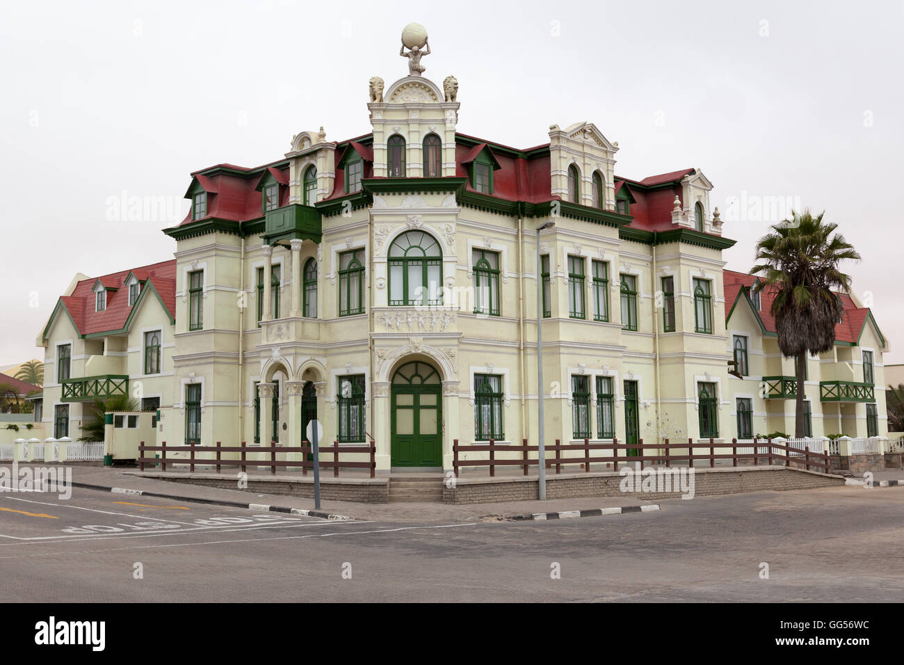 Swakopmund Namibia  Hohenzollernhaus, a national monument built during the German colonisation in neo-baroque style - Stock Image