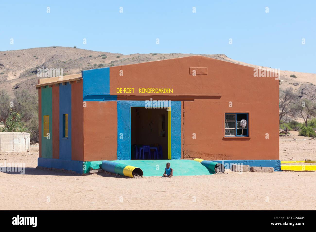 Damaraland Namibia De-Riet Kindergarden school, near Doro Nawas - Stock Image