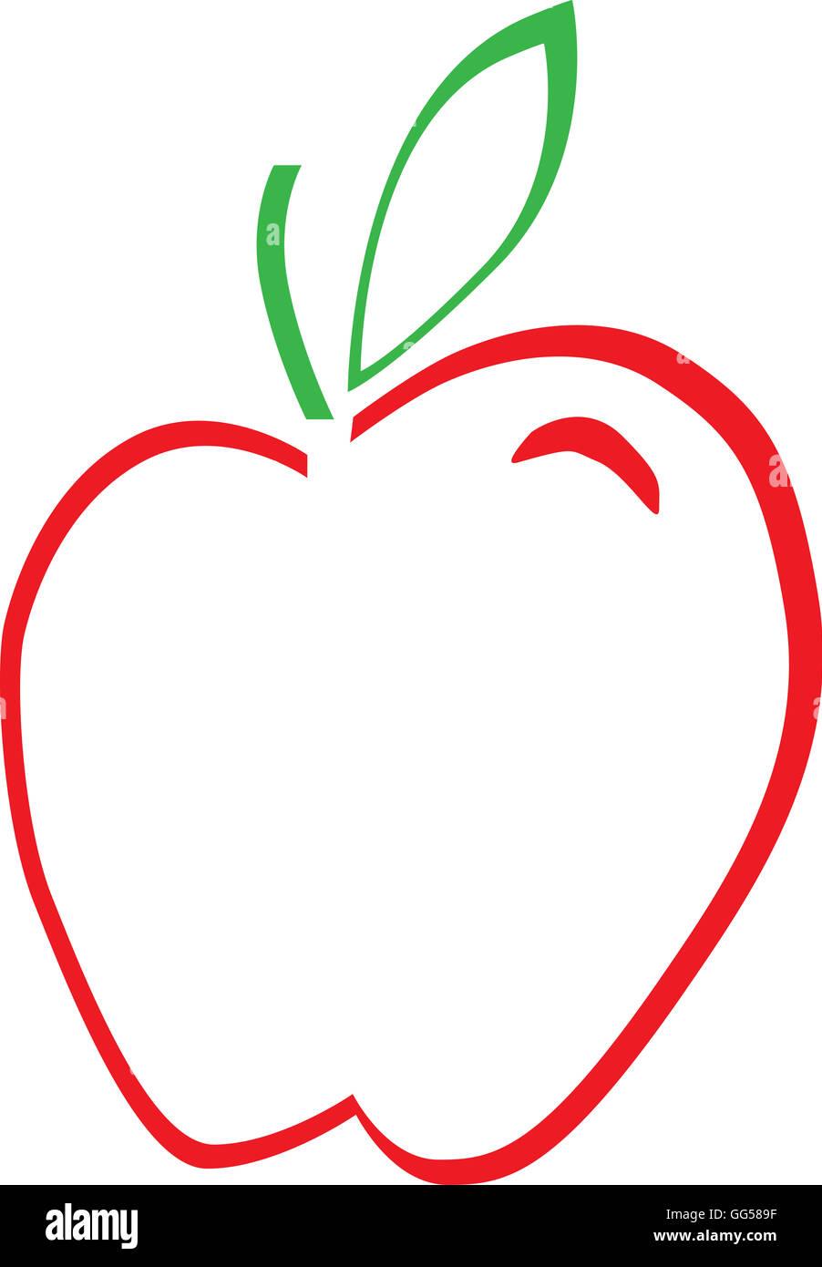 School Apple Logo - Stock Image