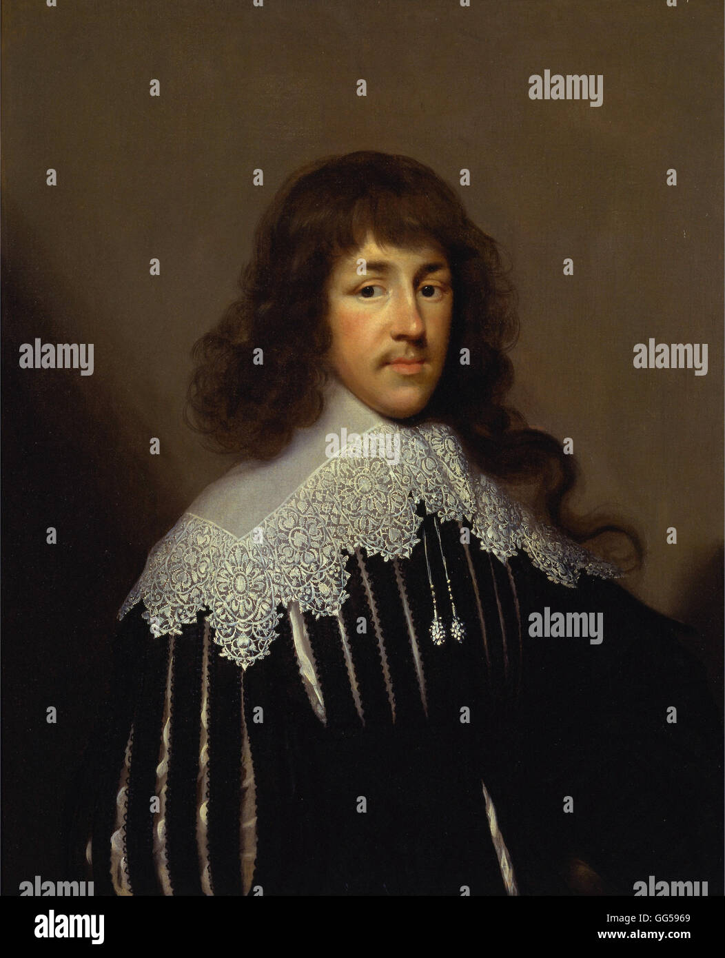 Cornelius Johnson - Portrait of a Man, Probably Sir Francis Godolphin Stock Photo