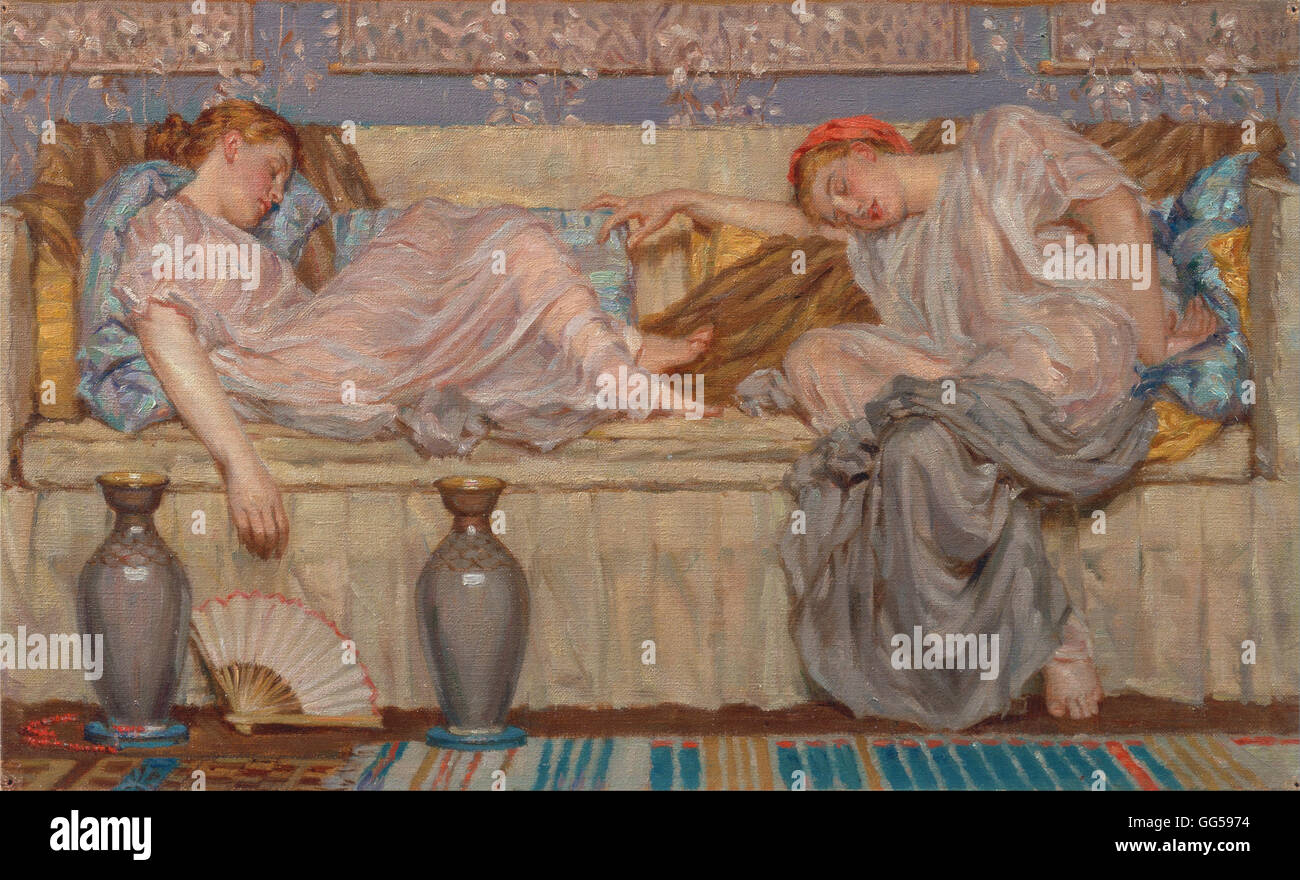 Albert Joseph Moore - Beads (study) Stock Photo