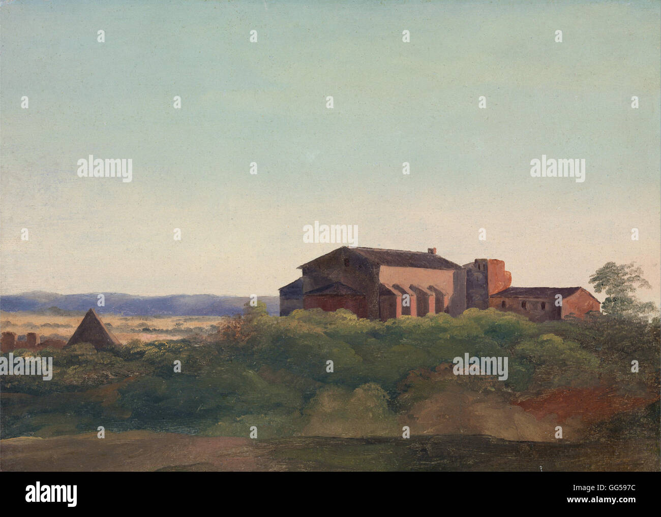 Charles Lock Eastlake - A View of the Church of S. Sabina and the Pyramid of Cestius, Rome - Stock Image