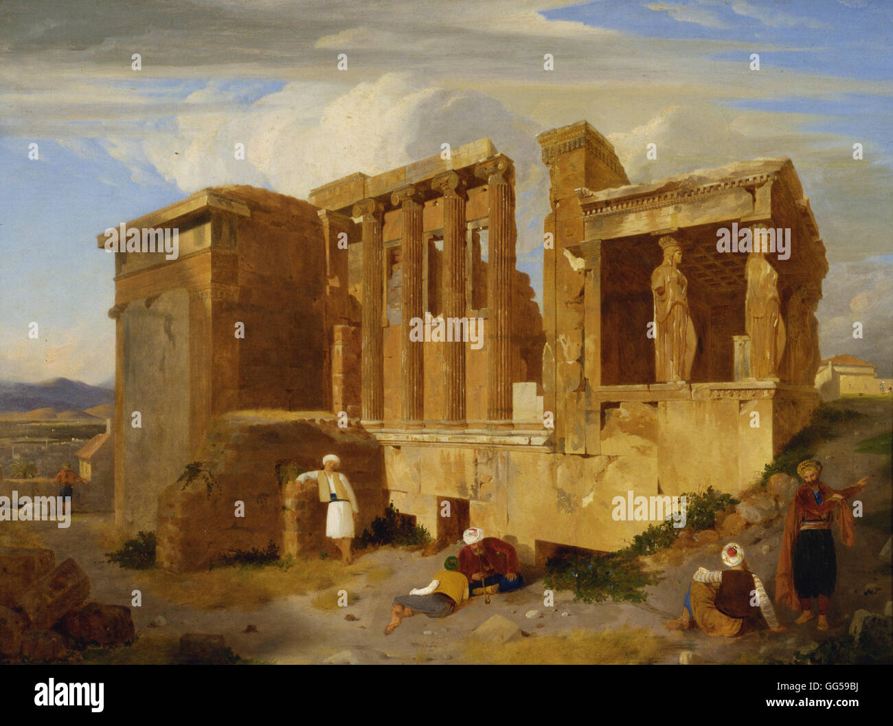 Charles Lock Eastlake - The Erechtheum, Athens, with Figures in the Foreground - Stock Image