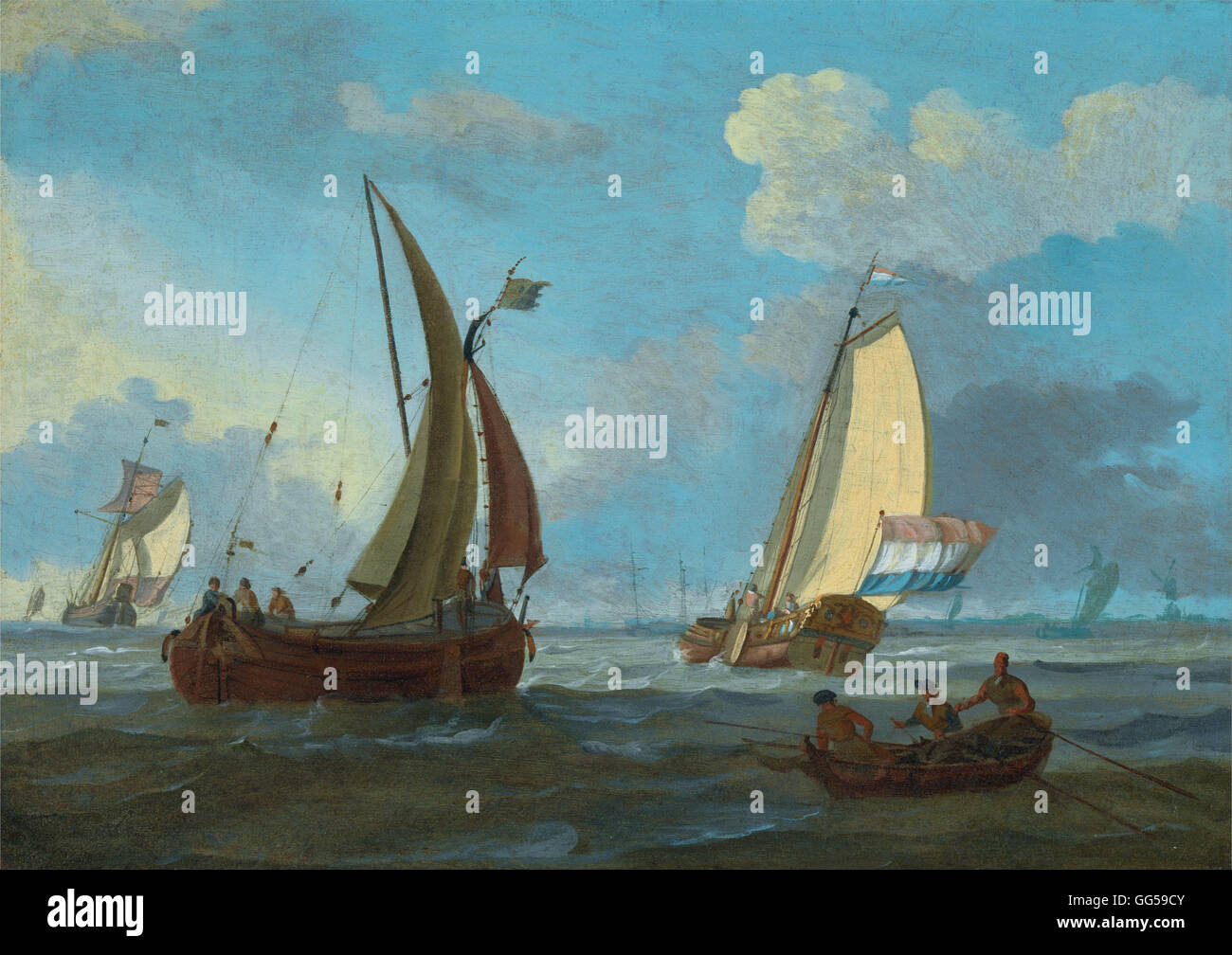 Adam Silo - Dutch Shipping off the Low Countries - Stock Image