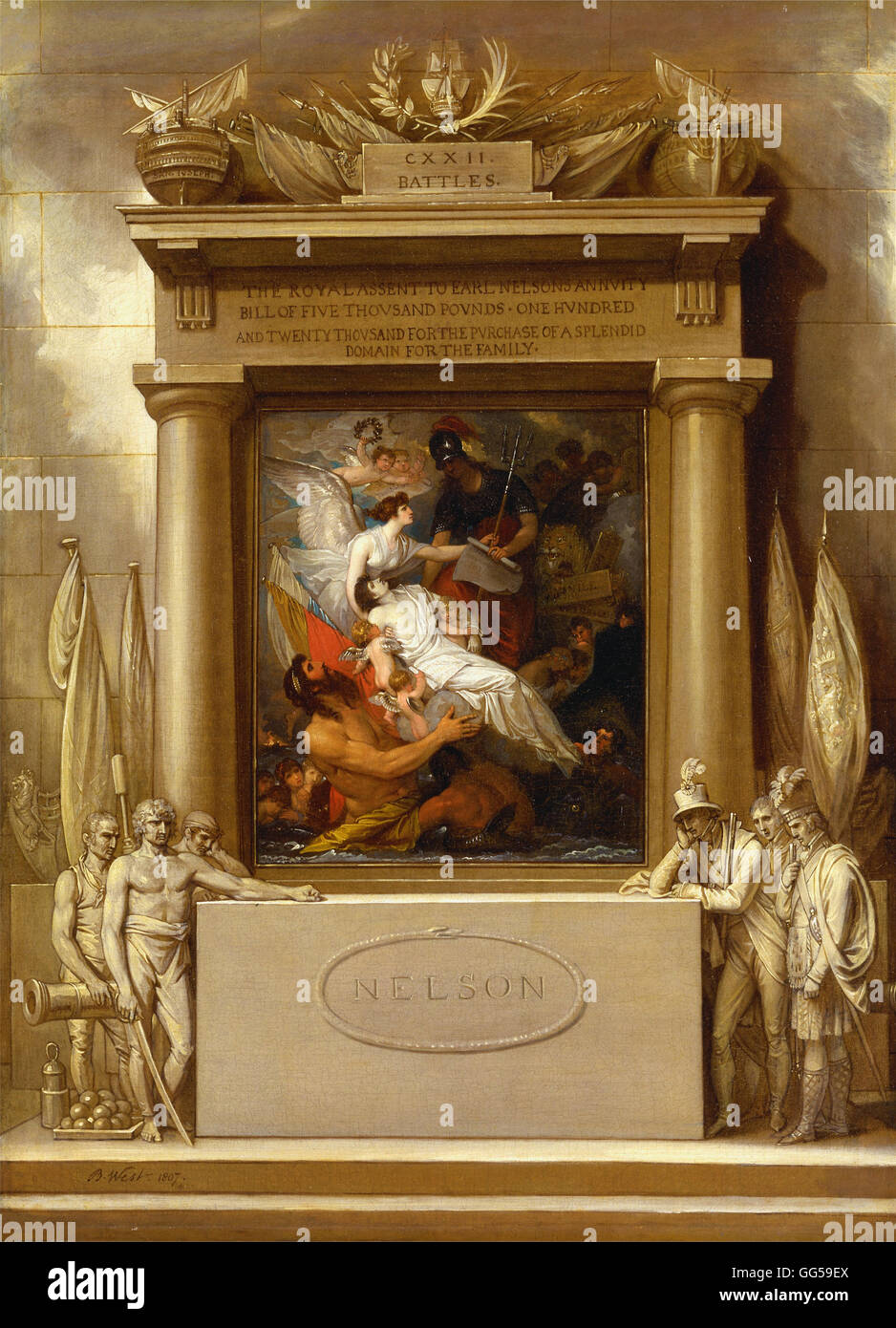 Benjamin West - The Apotheosis of Nelson - Stock Image