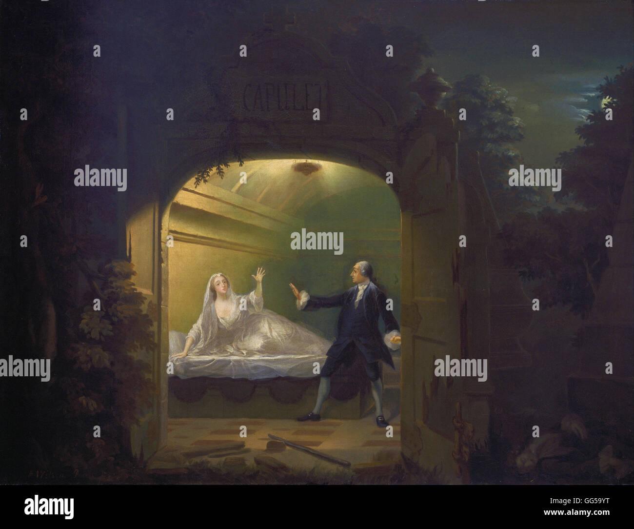 Benjamin Wilson - David Garrick and George Anne Bellamy in Romeo and Juliet, Act V, Scene III - Stock Image