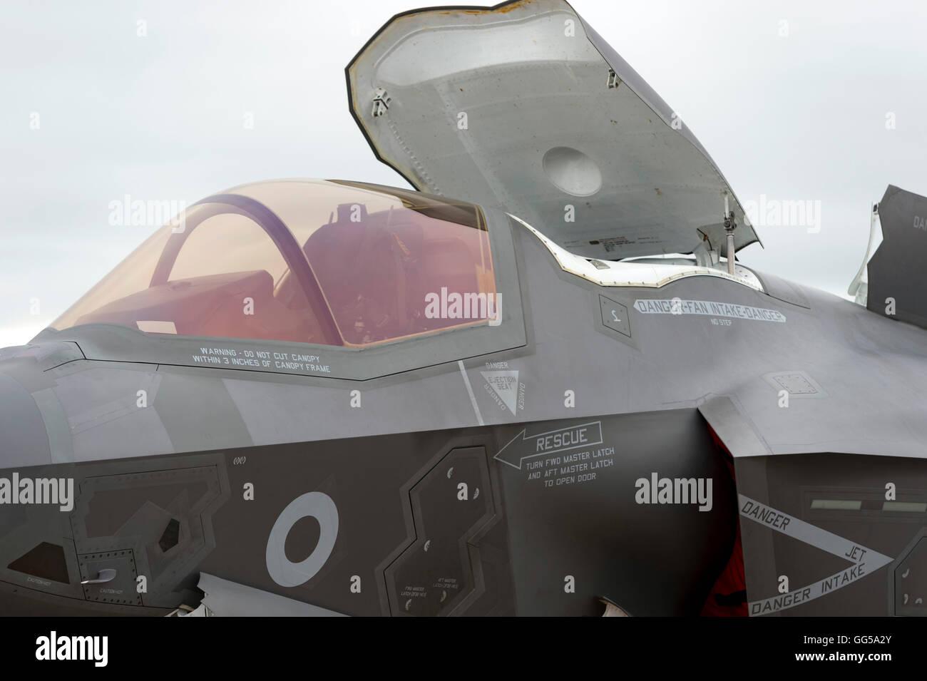 F35B Lightning II Royal Navy/Royal Air Force at Royal International air Tattoo 2016 - Stock Image