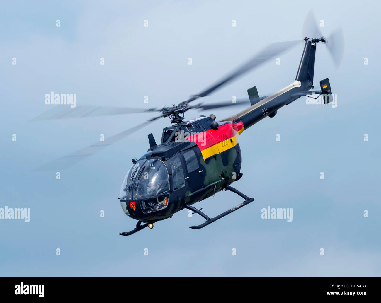 Bo 105P1M German Army  Helicopter at Royal International air Tattoo 2016 - Stock Image