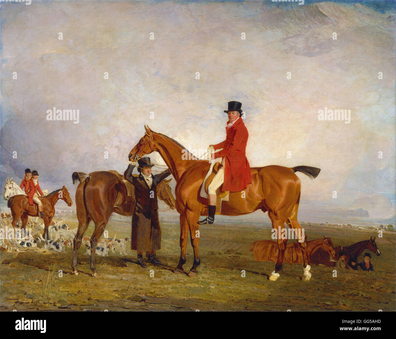 Benjamin Marshall - George, Marquess of Huntly (later 5th Duke of Gordon), on Tiny - Stock Image