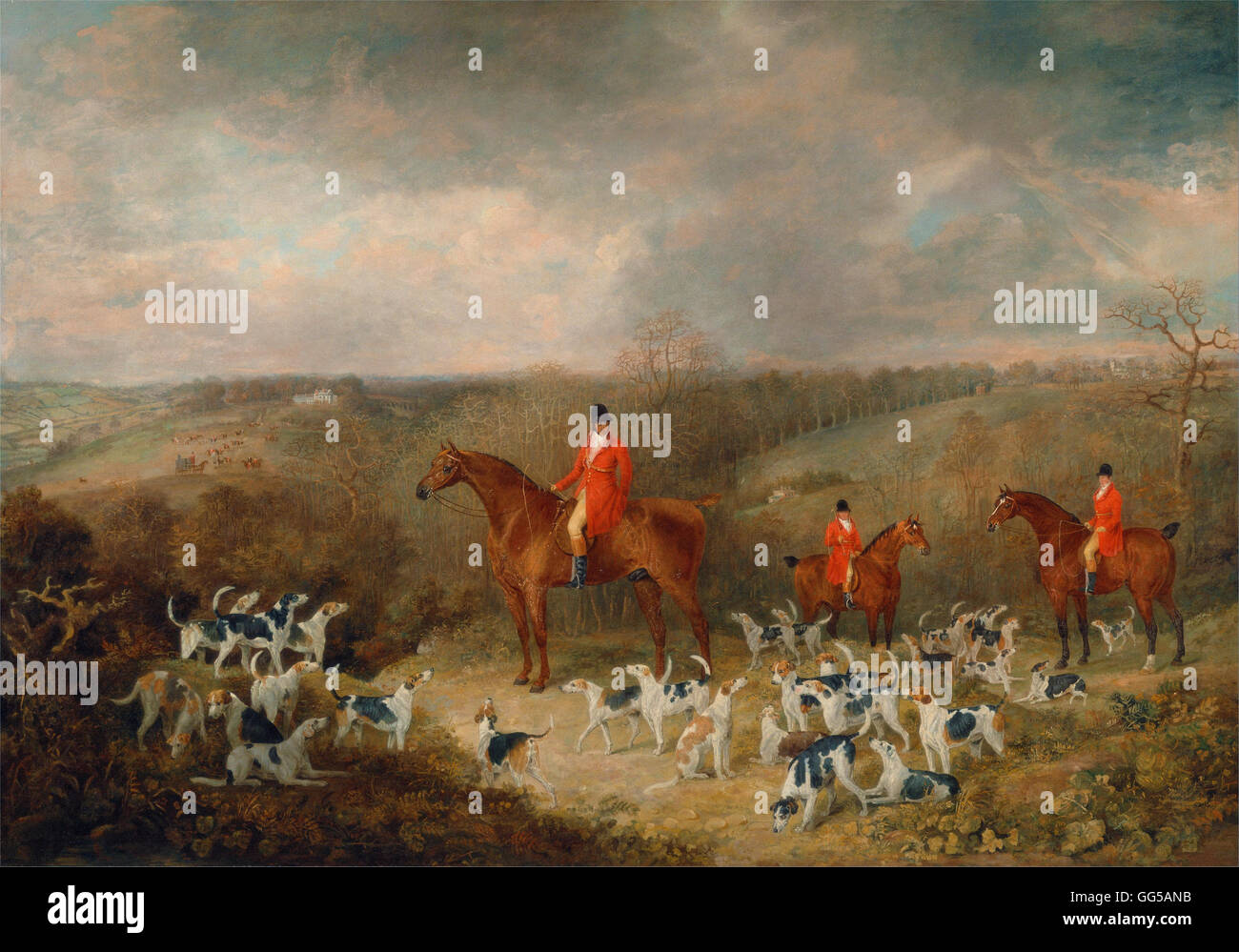 Dean Wolstenholme - Lord Glamis and his Staghounds - Stock Image