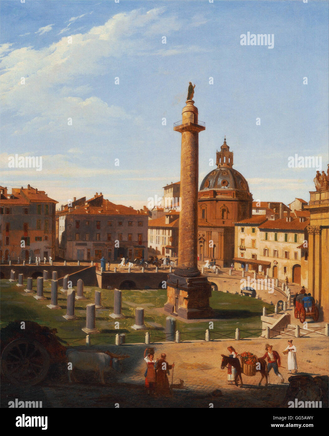 Charles Lock Eastlake - A View of Trajan's Forum, Rome - Stock Image