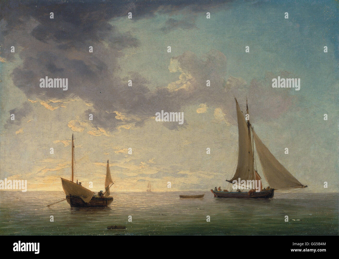 Charles Brooking - A Lugger and a Smack in Light Airs - Stock Image