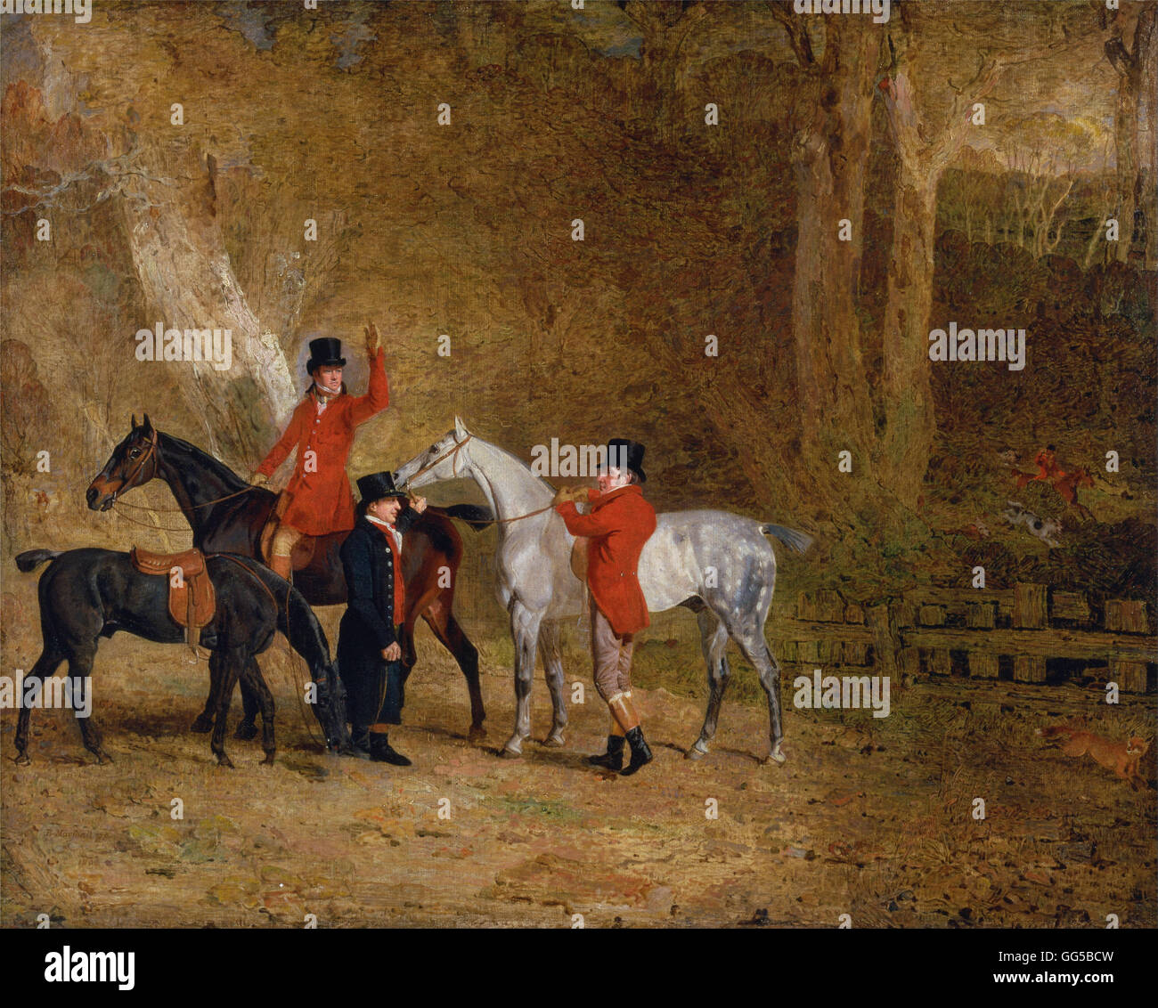 Benjamin Marshall - Foxhunting Scene - Stock Image