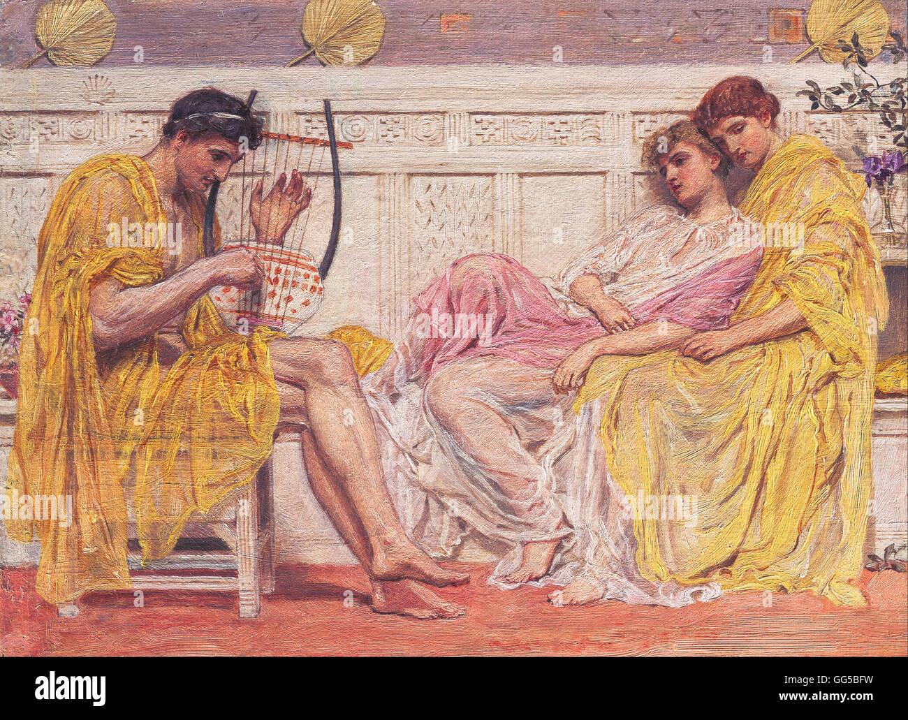 Albert Joseph Moore - A Musician - Stock Image
