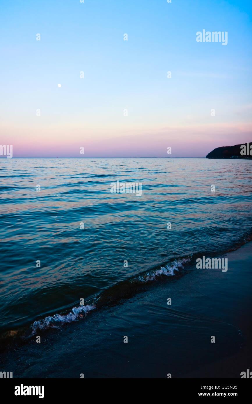 Twilight at the Sea - Stock Image