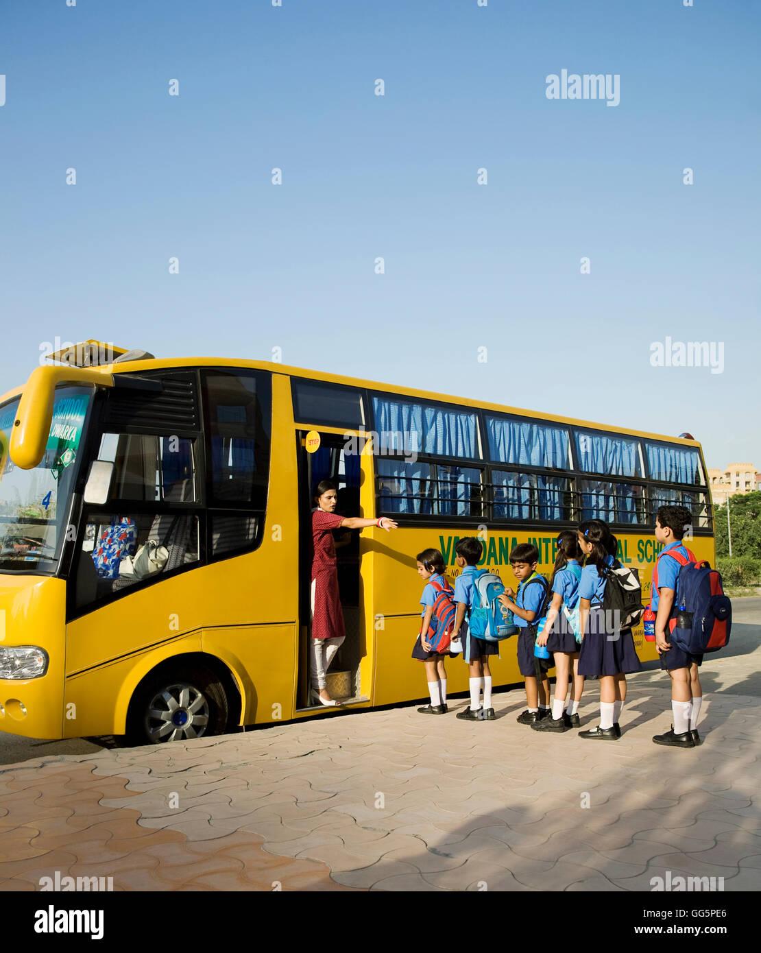 School Bus India Stock Photos School Bus India Stock Images Alamy