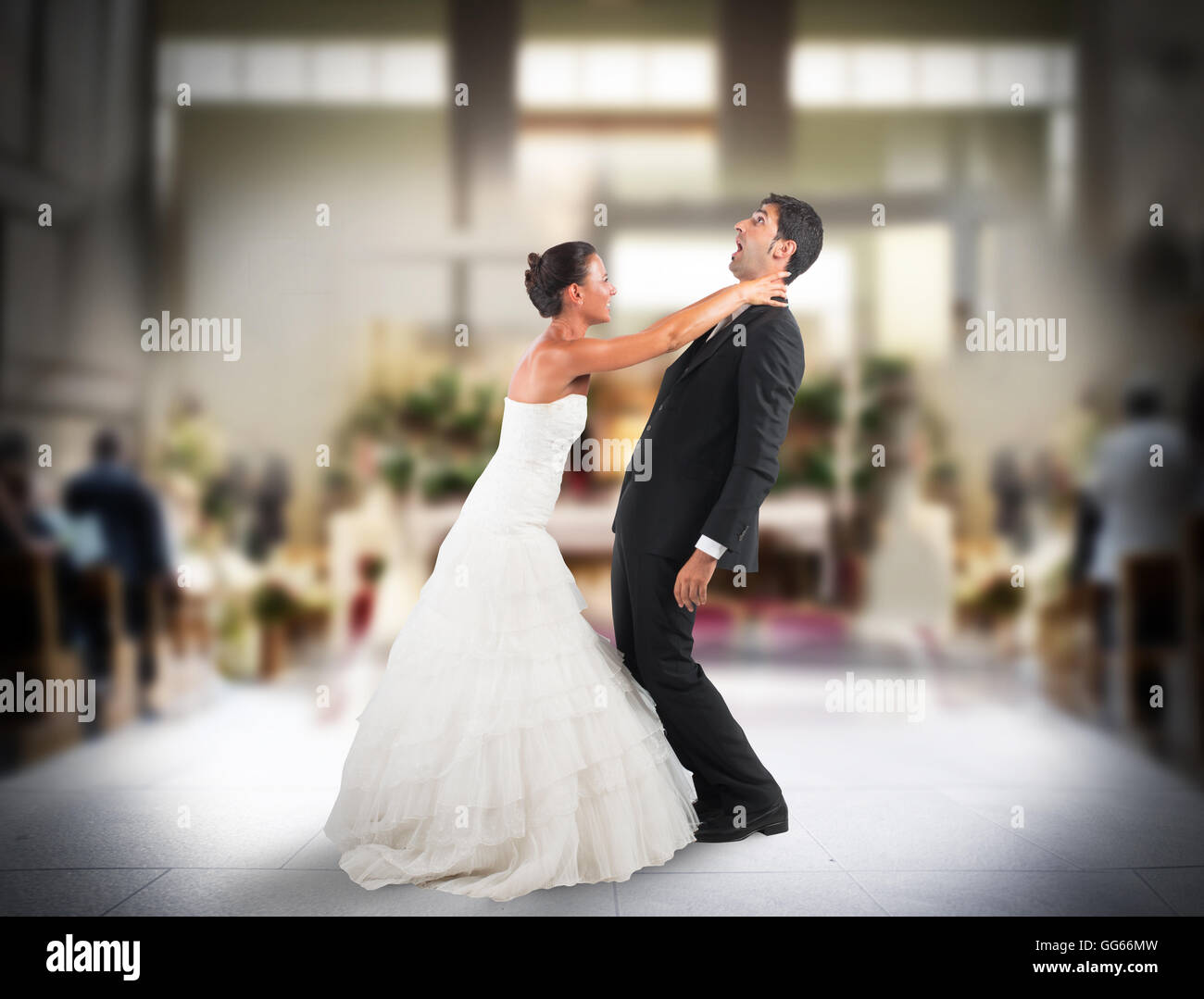 Bad marriage - Stock Image
