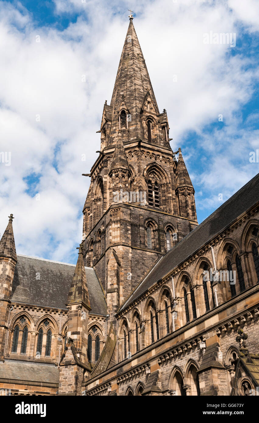 St Mary's Cathedral (Episcopal), Palmerston Place, Edinburgh. A Gothic building designed by Sir George Gilbert - Stock Image