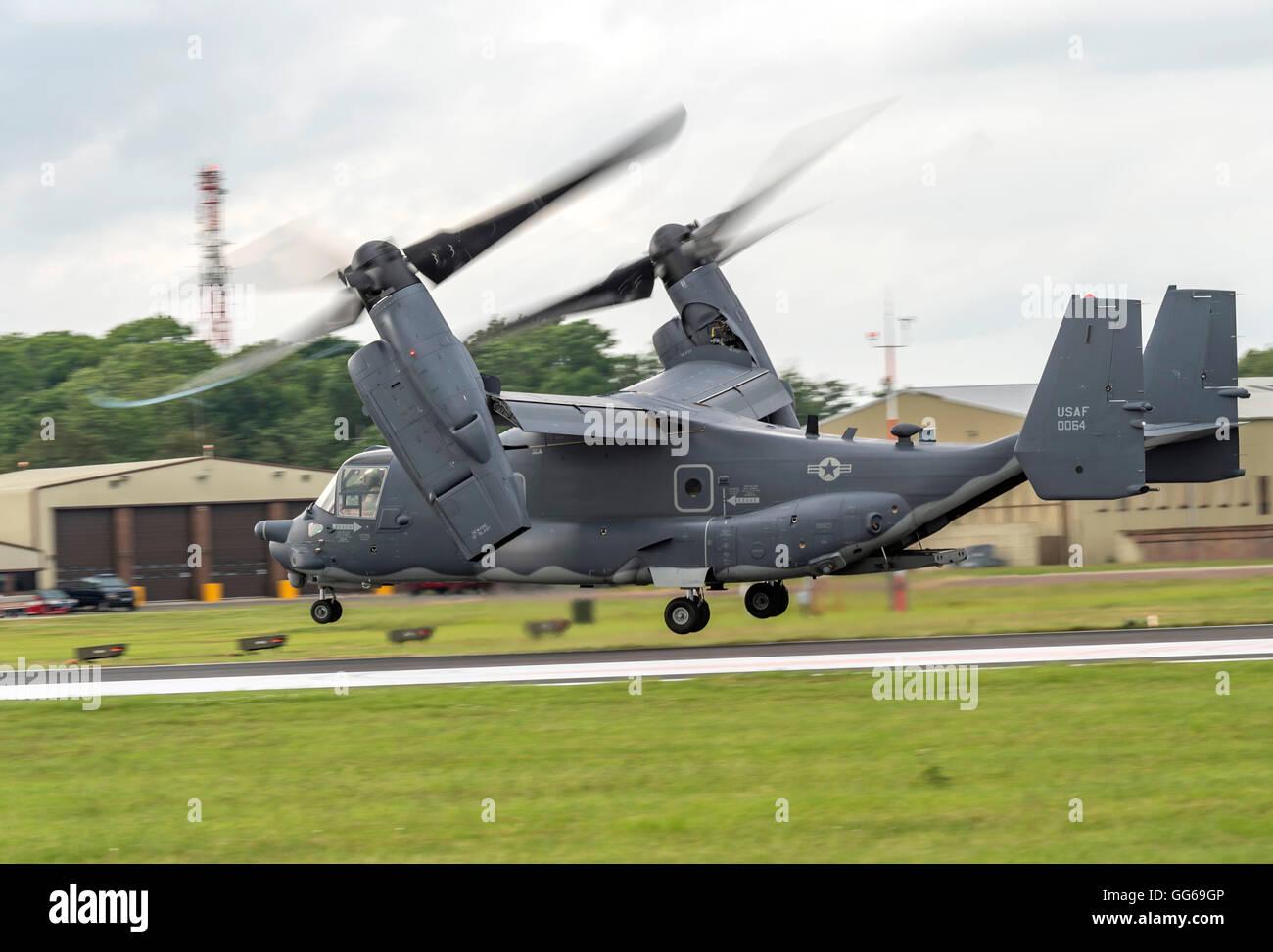 CV-22B Osprey USAF at Royal International air Tattoo 2016 - Stock Image