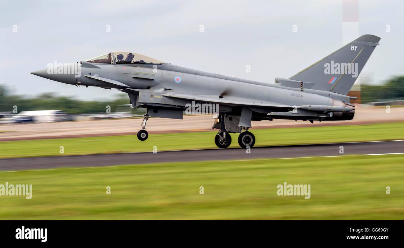 Eurofighter FGR4 Typhoon ZK354 Royal Air Force  at Royal International air Tattoo 2016 - Stock Image