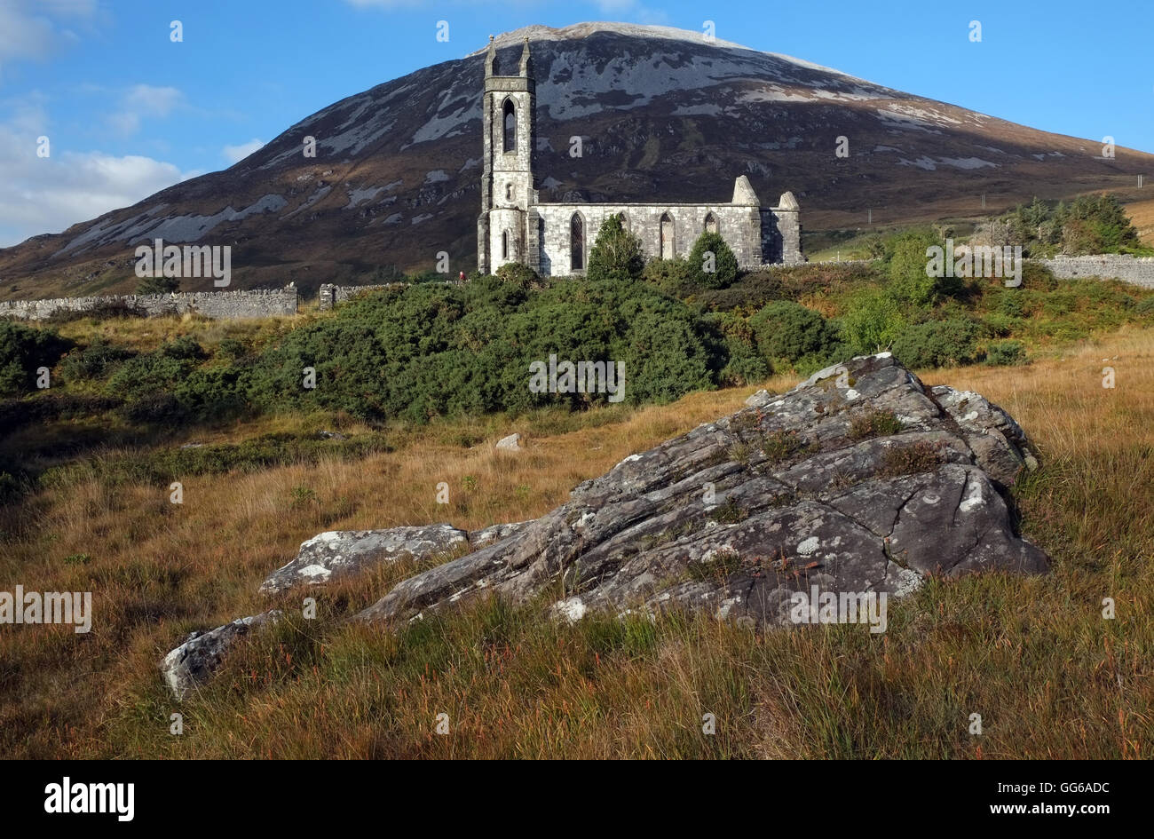 Church of Ireland, (now derelict), Dunlewey, Donegal. - Stock Image