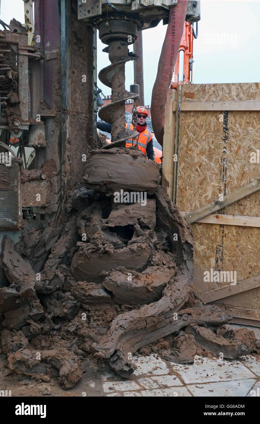 Drilling on Dublin Road, Belfast. - Stock Image