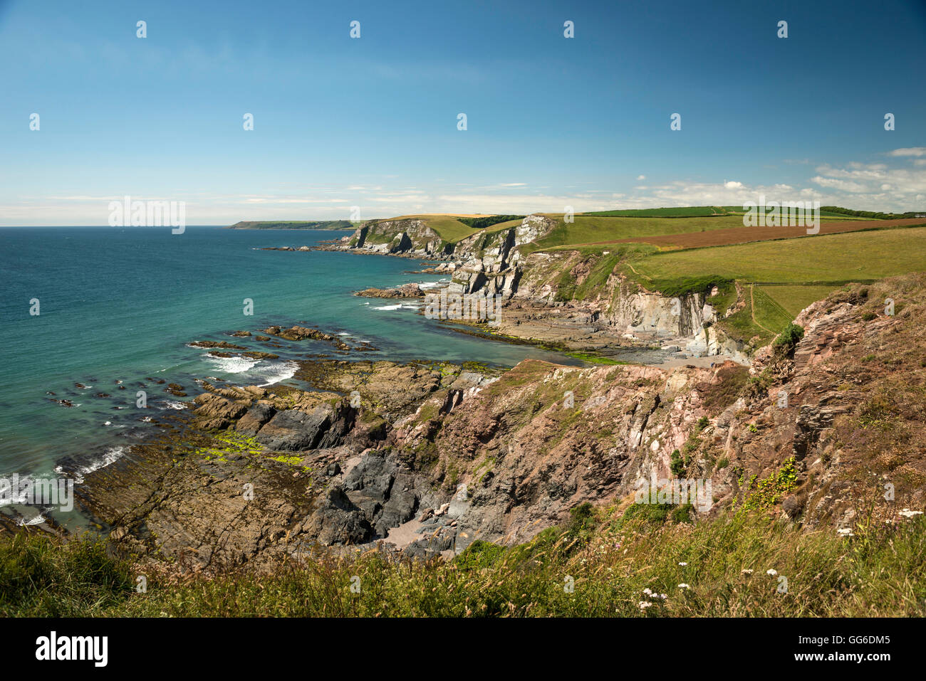 Ayrmer Cove near the village of Ringmore in The South Hams, Devon, UK - Stock Image