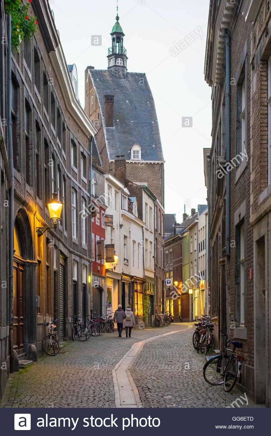 Street Scene Maastricht Stock Photos Street Scene Maastricht Stock