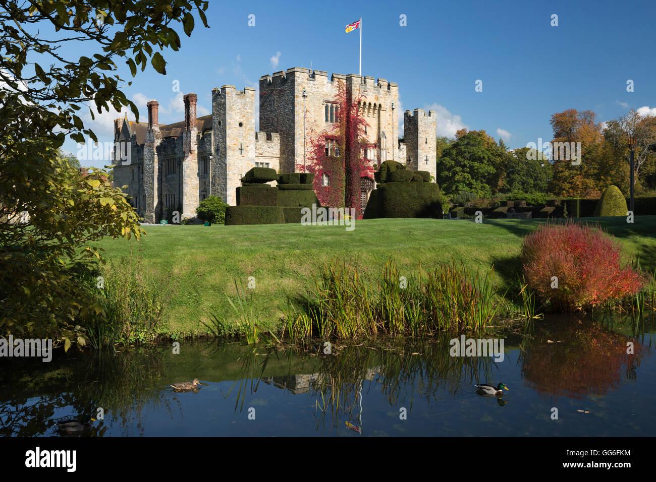 Hever Castle and gardens, Hever, Kent, England, United Kingdom, Europe - Stock Image