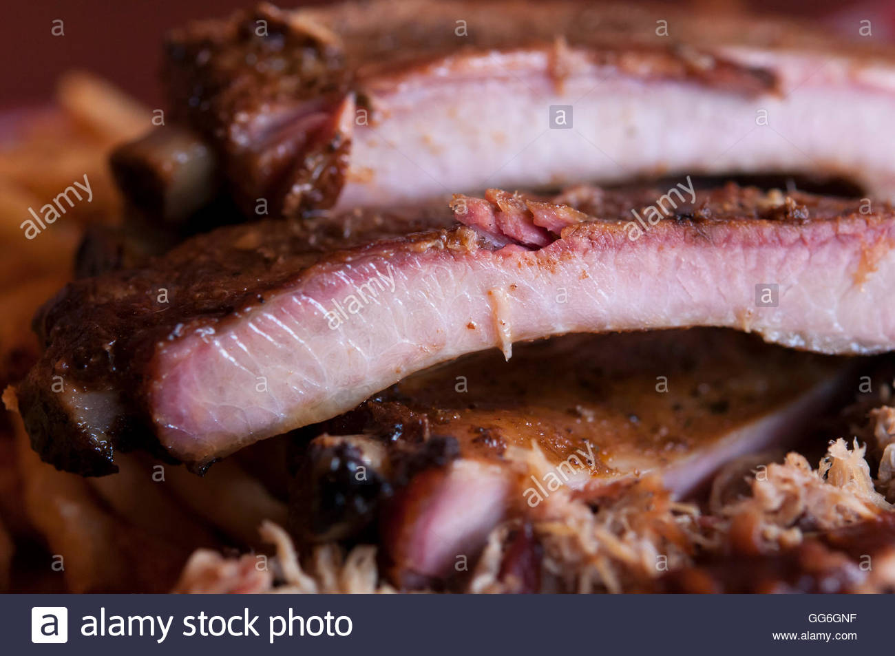 Vancouver, BC - July 2, 2011 - Scrumptious BBQ ribs. Photo: © Rod Mountain  http://bit.ly/RM-Archives  @rod - Stock Image