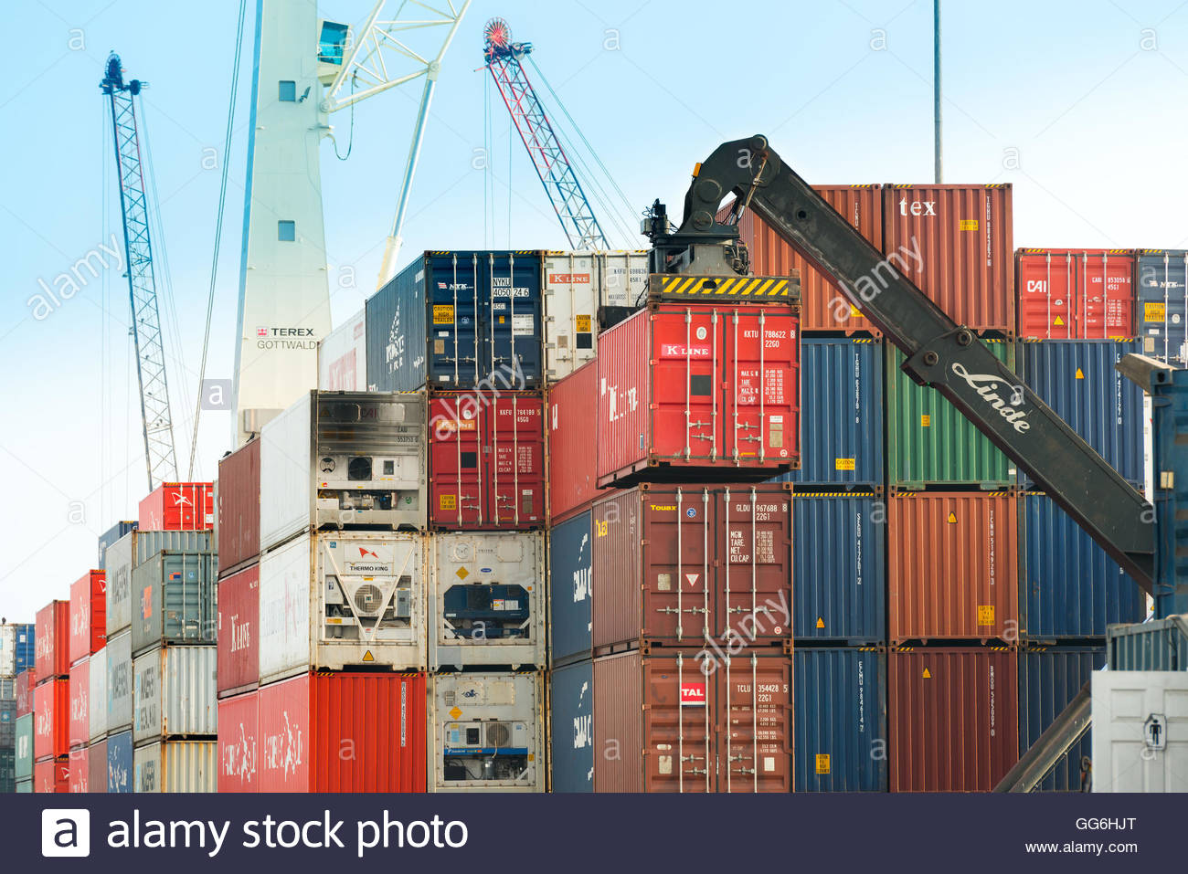 Stacked Shipping Containers Stock Photos Amp Stacked