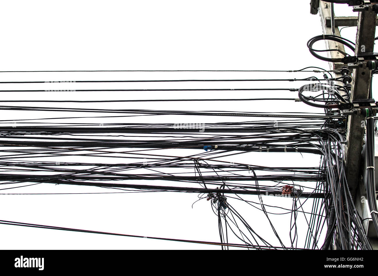 Telephone Cable Network Stock Photos Wiring For Rj45 Acronym Electricity Wire And Fiber Optic Of Internet In Thailand Image