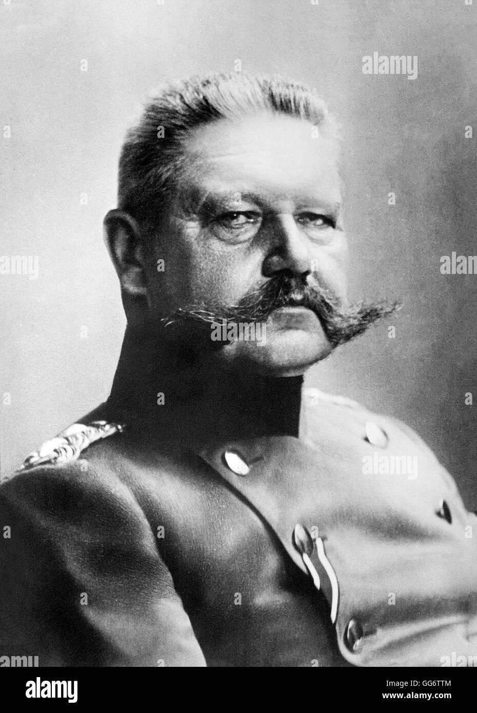Paul von Hindenburg. Portrait of Generalfeldmarschall Paul von Hindenburg (1847-1934), Chief of the General Staff - Stock Image