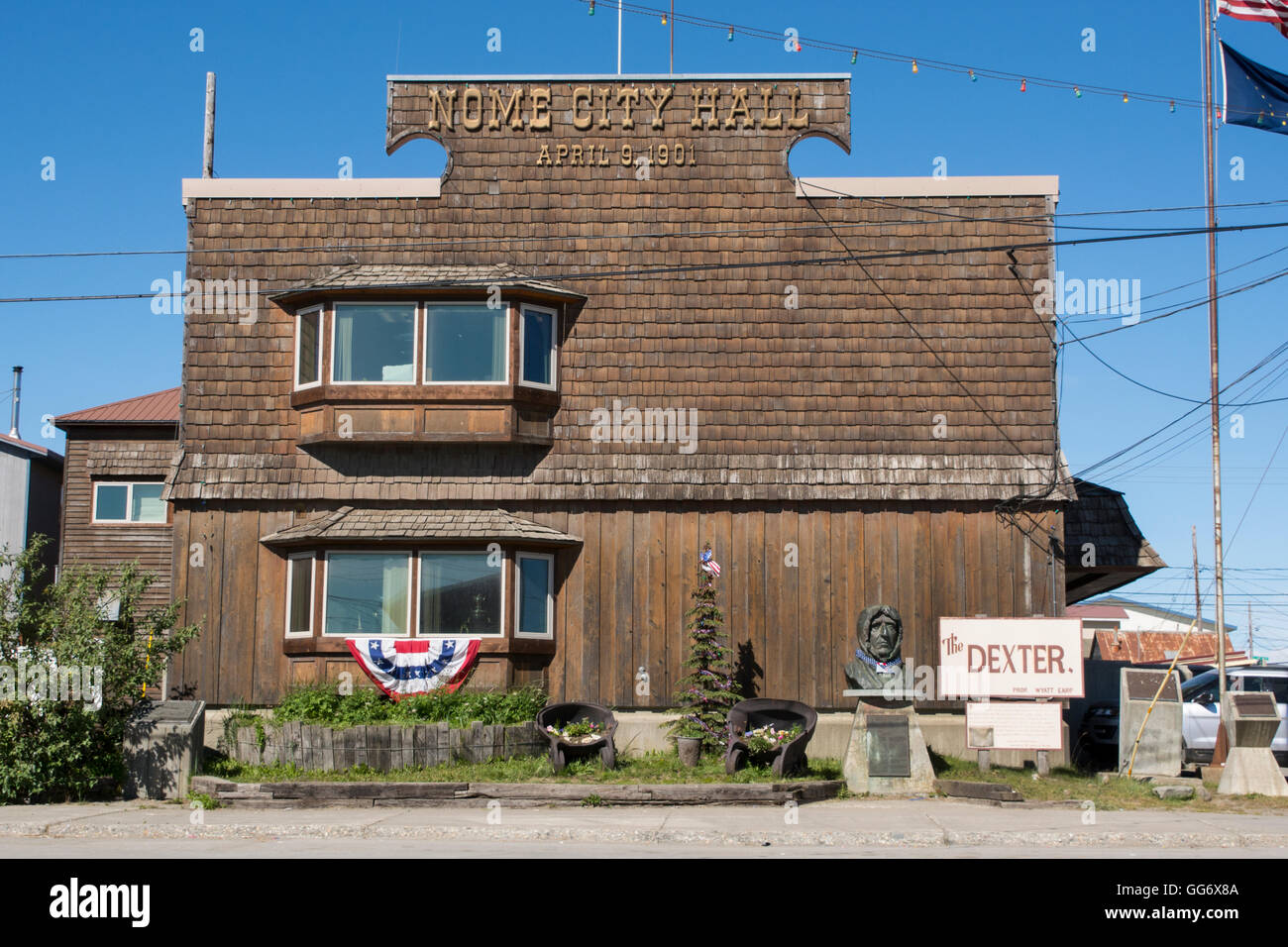 Alaska, Nome. Nome City Hall, est. April 9, 1901. -