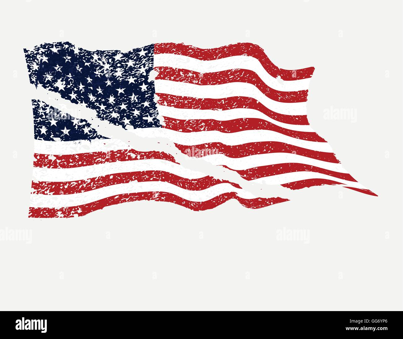 usa american flag in grunge torn in half vector stock vector art rh alamy com Tattered US Flag SVG Tattered US Flag DXF