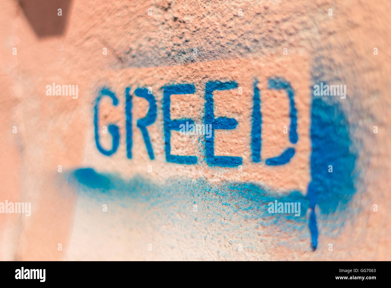 the word Greed - Stock Image