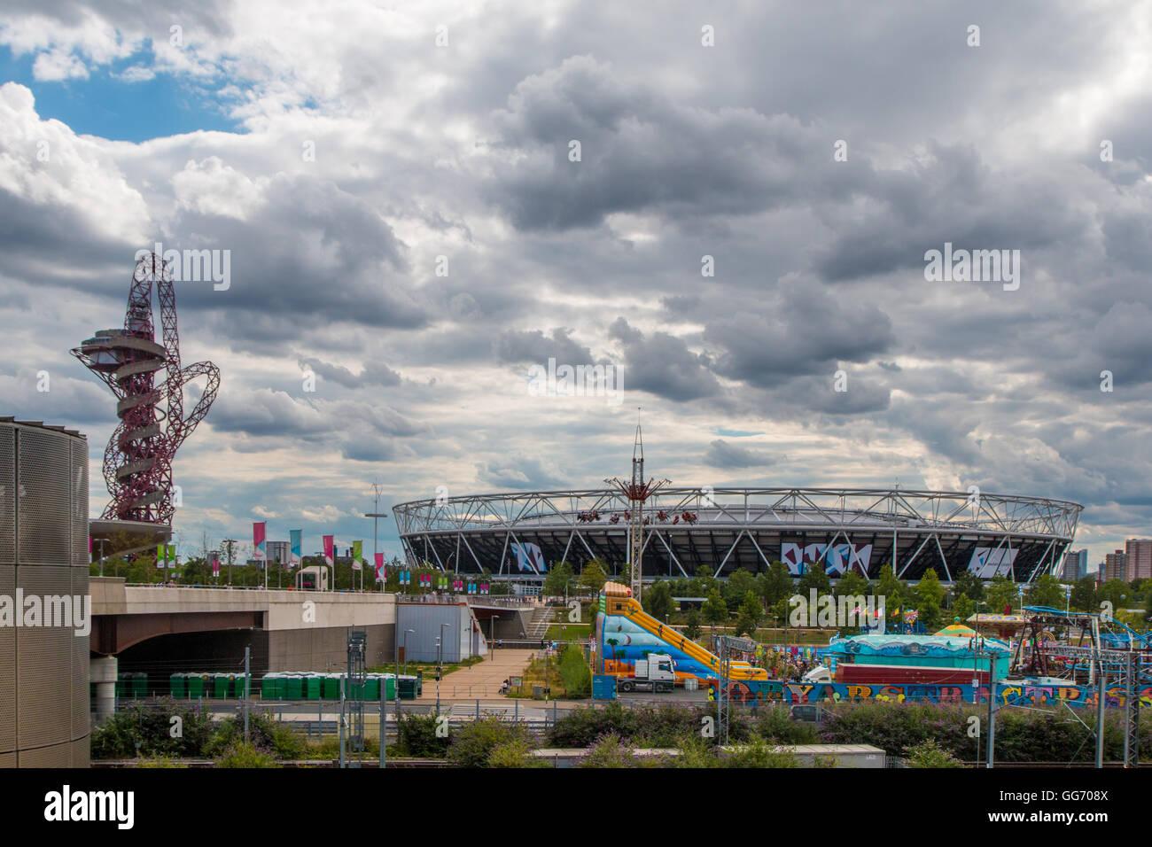 Queen Elizabeth II Olympic park - Stock Image