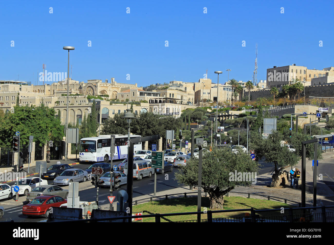 Modern city of Jerusalem, Israel - Stock Image