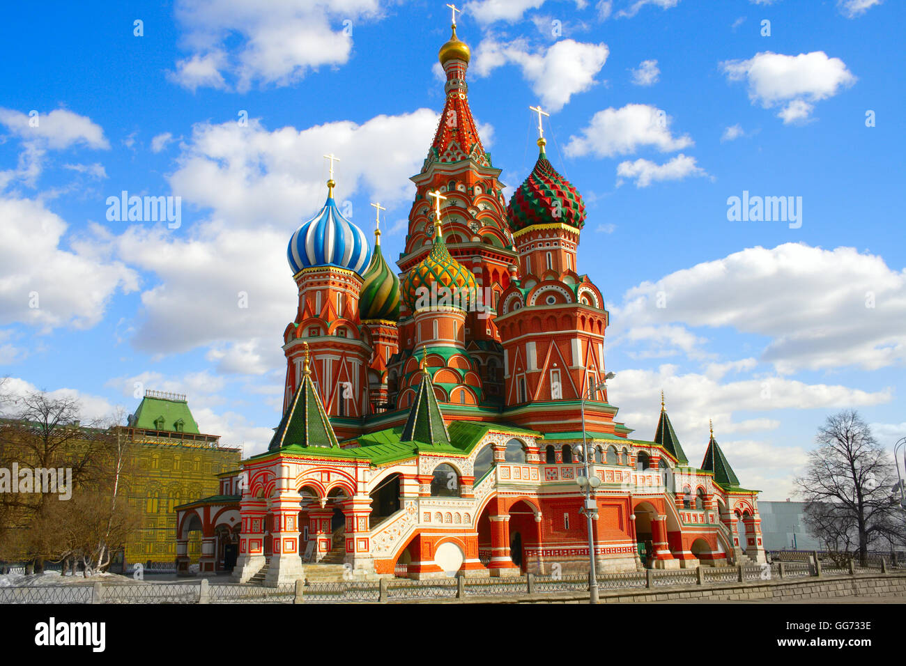 Moscow  St. Basil's Cathedral kremlin  church - Stock Image
