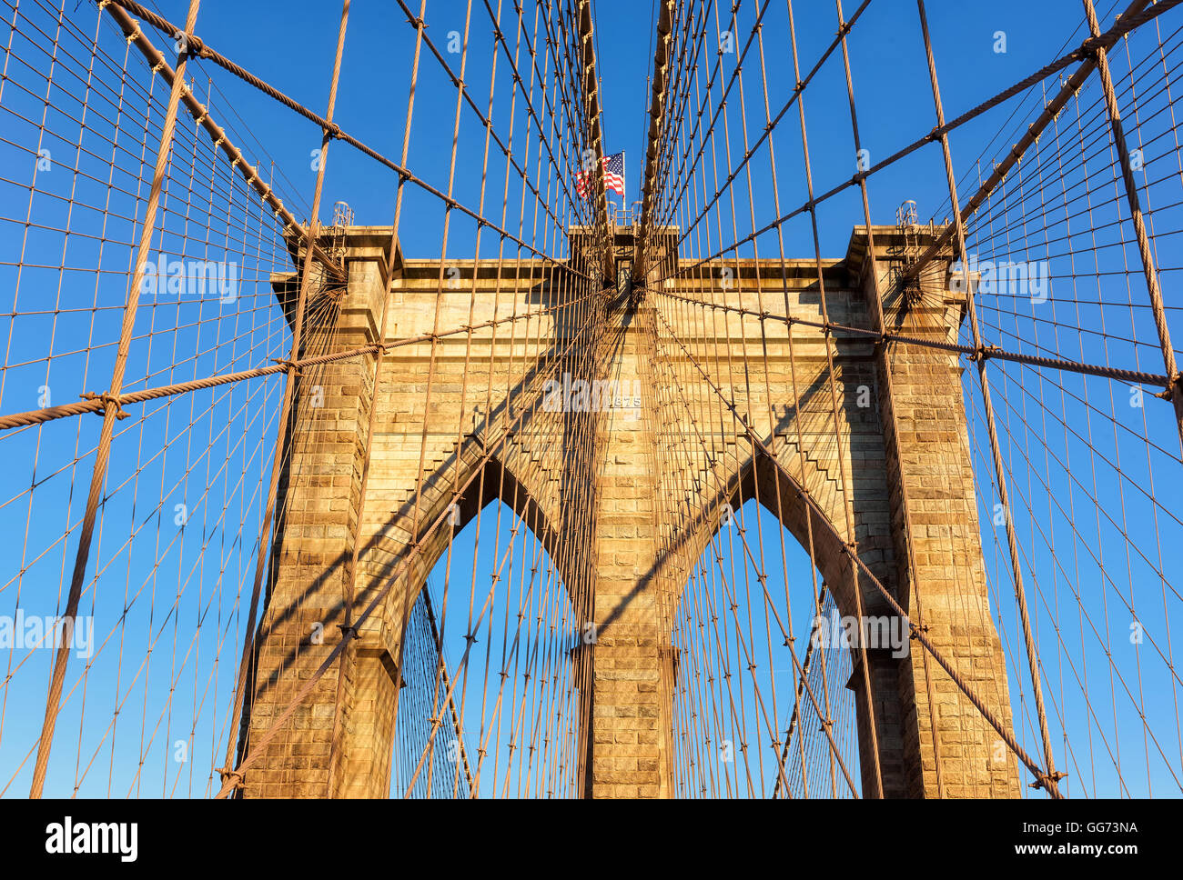 Brooklyn Bridge. - Stock Image