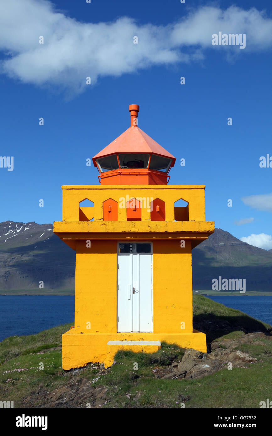 Aedarstein lighthouse, Iceland - Stock Image